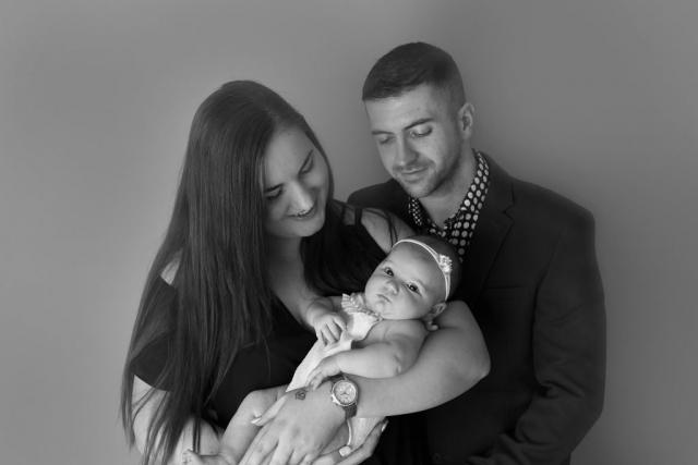 Black & white family milestone