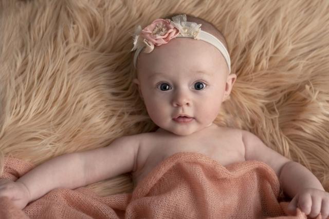 Milestone baby girl